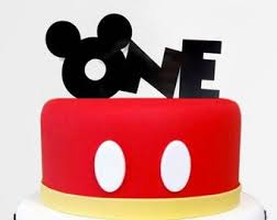 Mickey Mouse Cake Topper First Birthday One Cake Topper Etsy