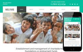 Foundations Website Templates Welfare A Charity Category Flat