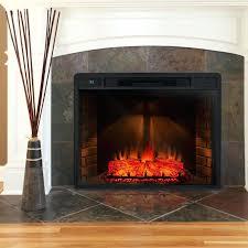 metal wood burning freestanding fireplace logs flame electric insert