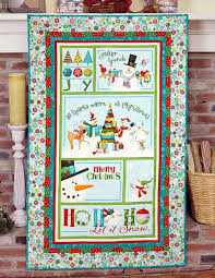278 best The Quilter Magazine images on Pinterest | Magazines ... & Ho-Ho-Ho Let It Snow Panel in Aqua - Panel Cut - Christmas Holiday Cotton  Fabric Line Designed by Nancy Halvorsen for Benartex Adamdwight.com