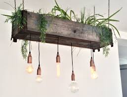Ceiling Light With Plant Pendant Copper Chains Lamp Hanging Plant Up Cycled Diy