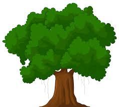 cartoon green tree png clipart