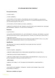 Format A Resume Delectable Standard Format For Resumes Kubreeuforicco