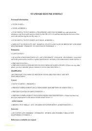 Resume Standard Format Enchanting Standard Format Resumes Engneeuforicco