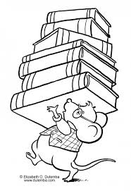 Library Mouse Coloring Page Coloring Pages Pinterest Coloring