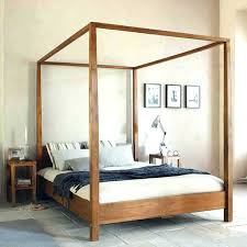 Wood Canopy Bed Luxury King Size Wood Canopy Bed Of Bedding Design ...