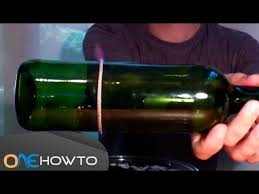how to cut glass bottles with a string