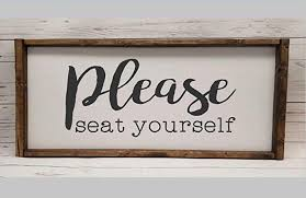 image unavailable image not available for color please seat yourself farmhouse sign