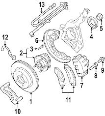 parts com® ford shield front wheel g partnumber yl2z3k070aa Ford Sport Trac Parts Diagram 2001 ford explorer sport trac base v6 4 0 liter gas brake components 2007 ford sport trac parts diagram