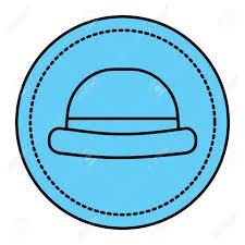 Classic Sticker Design Vintage Fashion Hat Classic Sticker Design Vector Illustration