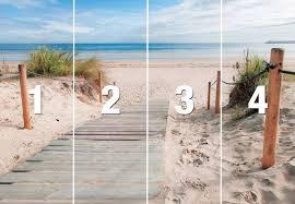 Bolcom Fotobehang Strand En Zee 254x368 Cm Hxb 4 Rollen Behang