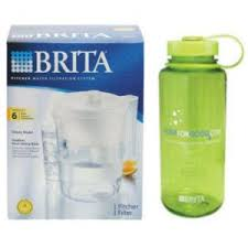 brita water bottle filter. Brita Classic Pitcher W/ Free Nalgene Water Bottle Filter