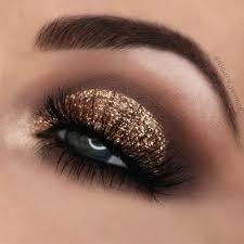 party gold smokey eyes makeup