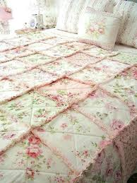 french country shabby chic bedding shabby chic quilt bedding sets rag quilt big enough for the