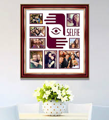 elegant arts and frames maroon wooden 26 x 1 x 28 inch selfies pattern 2 collage