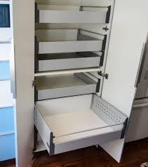 IKEA Akurum high cabinet hack with sliding shelves. Slide-out shelf for 30