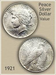 1922 Silver Dollar Value Chart 1921 Peace Silver Dollar Value Discover Their Worth