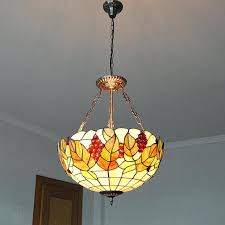 style g vine pattern flush mount light throughout vintage stained glass hanging lamp prepare fixture