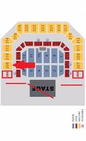 Civic Auditorium Seating Chart Map Of Venue Depicting Line Of Sight From Section 308