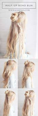 best hairstyles for long hair boho braided bun hair step by step tutorials for