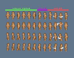 Pixel Character Template Steam Steel Wip Charactersheet 01 Pixeljoint Com