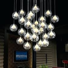get ations a fashion glass ball led chandelier modern minimalist living room bedroom dining bar creative