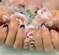 グレーネイビーフレンチネイル 京都宇治のネイルサロン nail