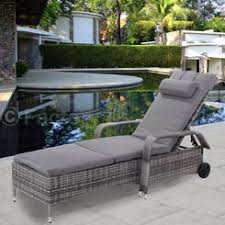 patio chaise lounge. Goplus Outdoor Chaise Lounge Chair Recliner Cushioned Patio Furni Adjustable W/Wheels E