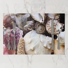 Seashell Collection Photography Paper Placemat