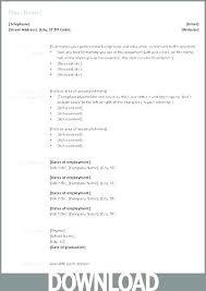 Resume Microsoft Word Resume Format Curriculum Vitae Download In Ms