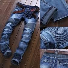 Men Fashion Ripped Jeans Patchwork Slim Fit Jeans Skinny ... - Vova