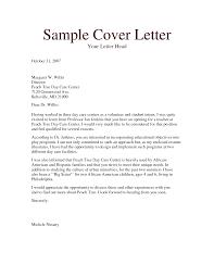 Cover Letter Sample Daycare Resume Sample Resume Daycare Assistant