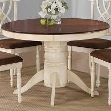 antique white pedestal dining table in fantastic round design 7