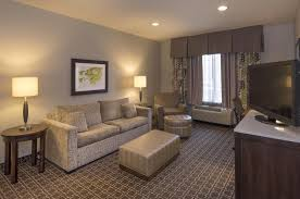 a seating area at hilton garden inn raleigh cary