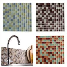 details about 3d self adhesive wall tiles large mosaic stick on kitchen bathroom wall tiles uk