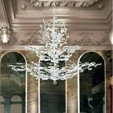 tree branch chandelier aspen light chrome finish crystal three tier metal