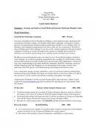 Social Media Resume Example Social Media Marketing Resume Examples Under Fontanacountryinn Com