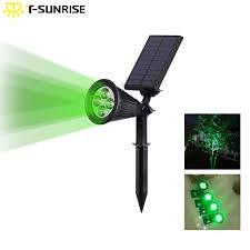 Led Light Angle Us 12 33 36 Off T Sunrise Outdoor Solar Light Angle Adjustable 4 Led Lighting Waterproof Garden Light For Yard Path Green Color In Solar Lamps From