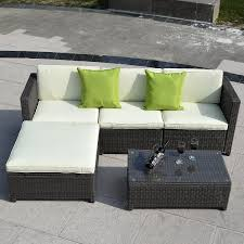 Bellagio Bronze Java Or White Wicker Sectional SofaOutdoor Patio Furniture Sectionals