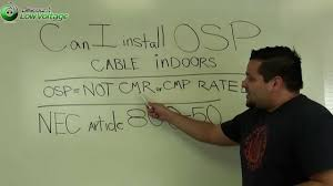 Osp Fiber Can I Install Underground Osp Copper And Osp Fiber Cable Indoors
