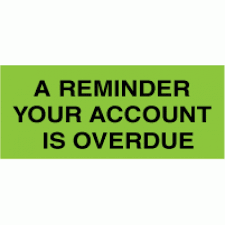 Overdue Account 646 A Reminder Your Account Is Overdue On Rolls 50mm X 21mm