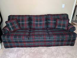 red and green plaid sleeper sofa green