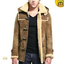 brown fur coat mens hooded leather fur jacket brown faux fur jacket mens