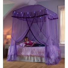 Sparkling Lights Canopy Bower for Kids Beds, Size Twin to Queen