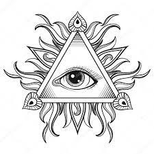 эскиз масонский глаз эскиз масонский глаз вектор все видя символ
