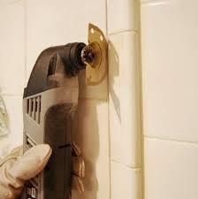 Removing Tile Backsplash Amazing Dremel Up Closeremoving Tile Strategically Kitchen Redo