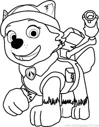Paw Patrol Coloring Sheets Chase Coloring Beautiful Page