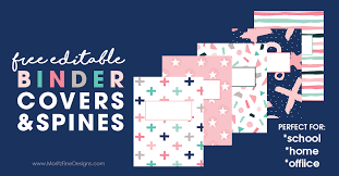 Free Editable Binder Covers And Spines Editable Binder Covers Spines Free Printable Download