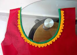 Applique Work Designs On Shirts 2015 Petals Neckline For Kurtis Salwar Kameez Blouses