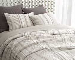 pineconehill gradation linen duvet cover and shams made in the shades of slate